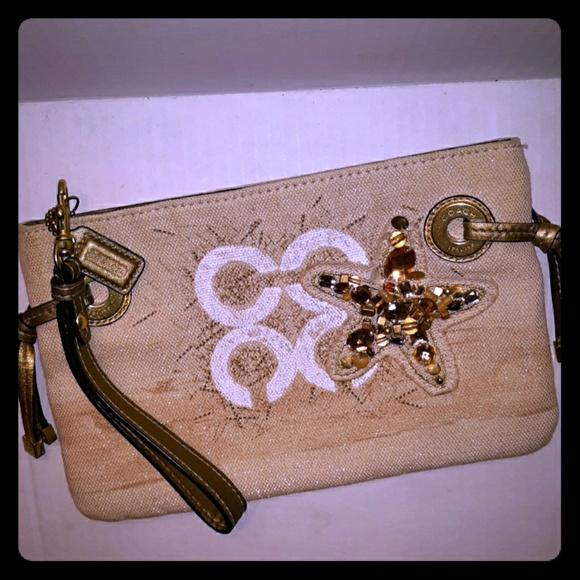 Coach Handbags - Coach Audrey Beach Starfish Motif Large wristlet